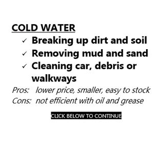 Cold Water Pressure Cleaners - Various Brands