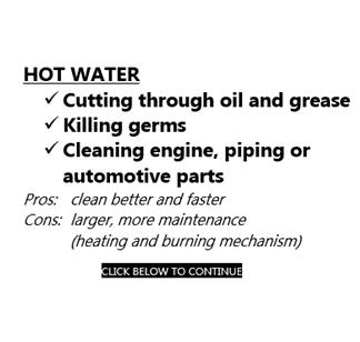 Hot Water Pressure Cleaners - Various Brands